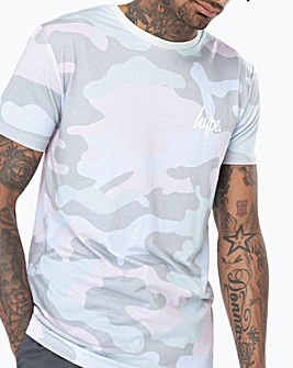 Hype Pistachio Camo T-Shirt Long