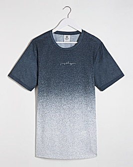 Hype Blue Fade Speckle T-Shirt Long