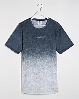 Hype Blue Speckle Fade T-Shirt Long
