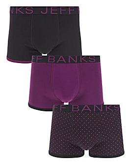 Jeff Banks 3 Pack Fashion Trunks