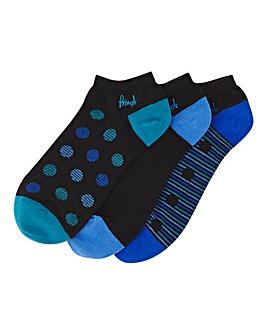 Pringle 3 Pack Fashion Trainer Socks