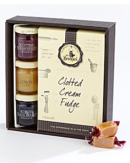 Mrs Bridges Clotted Cream Fudge And Preserve Mini Set