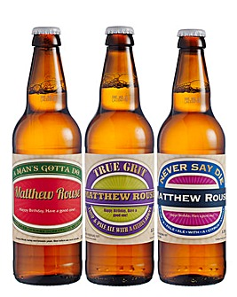 Set of 3 Personalised Beers