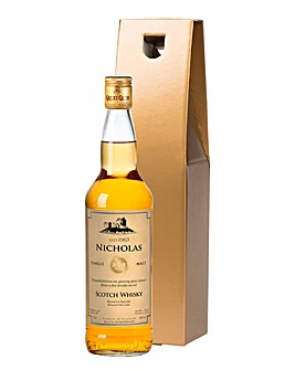 Personalised Malt Whiskey in a Gold Gift Box