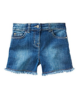 KD Girls Frayed Hem Denim Shorts