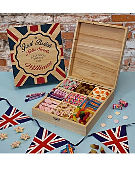 Personalised British Retro Sweet Box