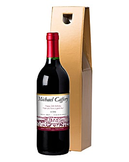 Personalised Red Wine in a Gift Box