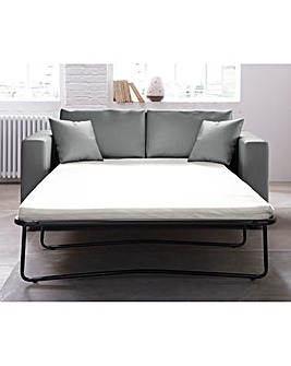Alicante Faux Leather Metal Action Sofabed