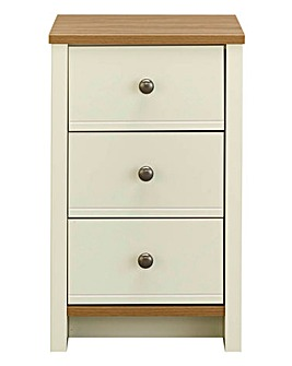 Salcombe 3 Drawer Bedside Table