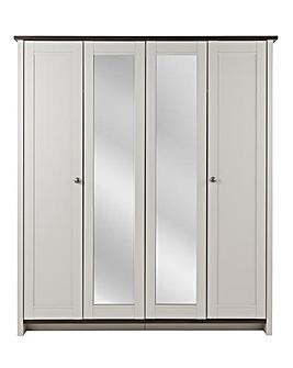 Salcombe 4 Door Mirrored Wardrobe