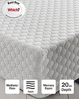 Silentnight 7 Zone Memory Foam Topped Rolled Mattress
