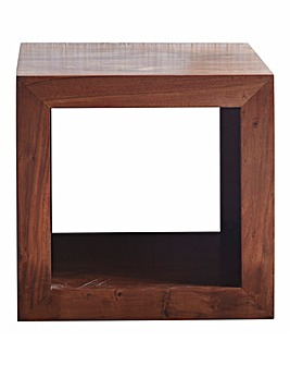 Java Ready Assembled Solid Acacia Wood Cube
