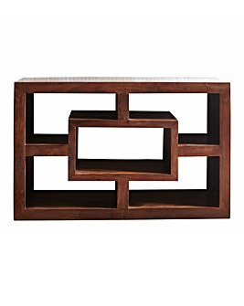 Java Acacia Wood Wide Display Unit