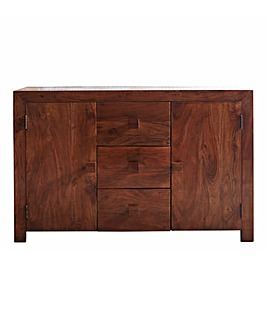 Java Ready Assembled Solid Acacia Wood Large Sideboard