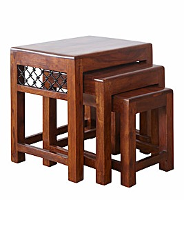 Jaipur Sheesham Wood Nest of 3 Tables