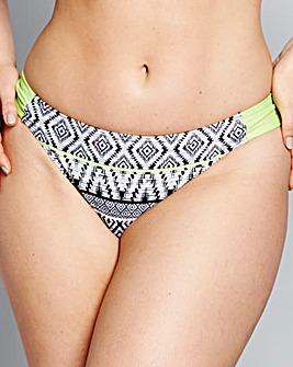 Mono Print Bikini Bottoms