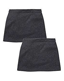 Older Girls Pack of Two Ponti Skirts Standard Fit