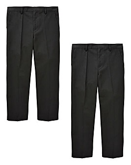 Older Boys Pck Two Trousers Generous Fit