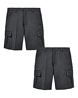 Younger Boys Pack of Two Cargo Shorts Ge
