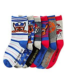 Paw Patrol Pack of Six Socks