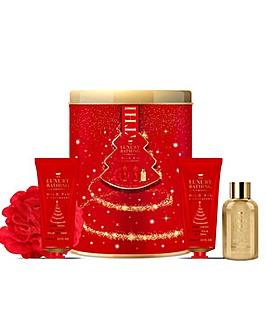 Luxury Bathing Company All A Glow Round Tin Bath & Body Gift Set