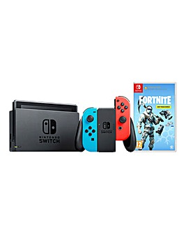 Nintendo Switch Neon Console + Fortnite
