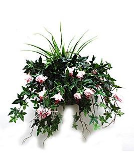 Artificial Plant Fuchsia Wall Basket