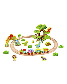 J! Wooden Small Dinosaur Train Set
