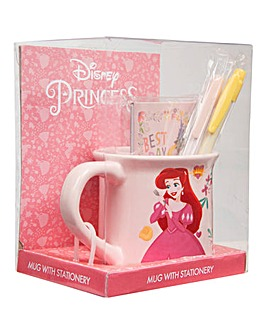 Disney Princess Mug with Stationery