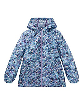 KD Girls Floral Water Resistant Coat