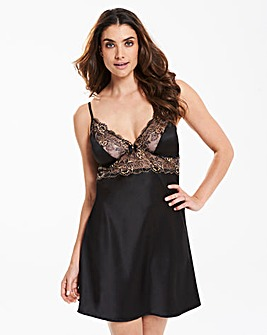 Ella Lace Black/Gold Slip