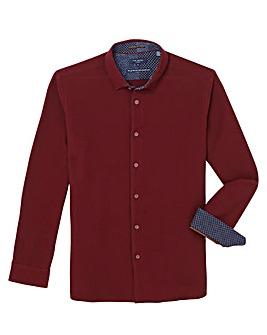 Ted Baker Tall Textured Long Sleeve Shirt