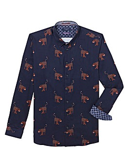 Ted Baker Tall Panther Printed Long Sleeve Shirt