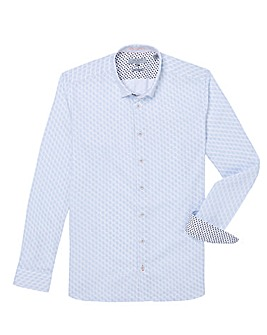 Ted Baker Tall Geo Long Sleeve Shirt