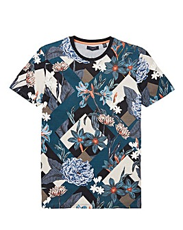 Ted Baker Tall All Over Printed Short Sleeve T-Shirt