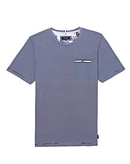 Ted Baker Tall Fine Stripe Short Sleeve T-Shirt