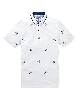 Ted Baker Tall Bird Embroidered Short Sleeve Polo Shirt