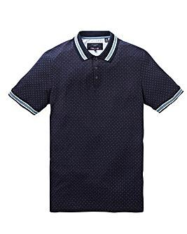 Ted Baker Tall Mini Spot Short Sleeve Polo Shirt