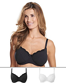 2Pack Sophie Full Cup Black/White Bras