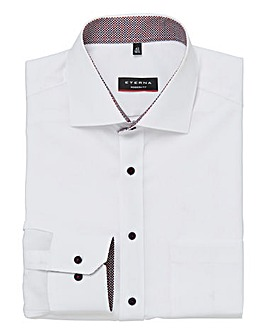 Eterna Mighty Plain Contrast Trim Shirt