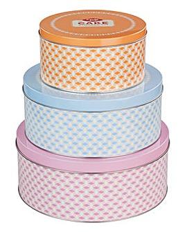 Tala Set of 3 Brights Cake Tins