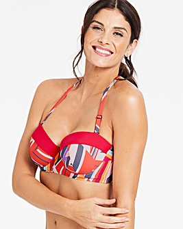 Underwired Multiway Bandeau Bikini Top
