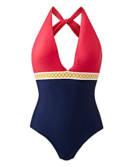 Plunge Front Cross Back Swimsuit