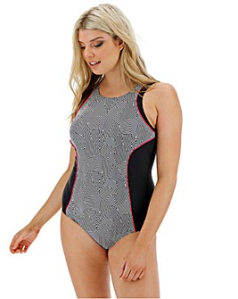 High Neck Sports Swimsuit- Longer