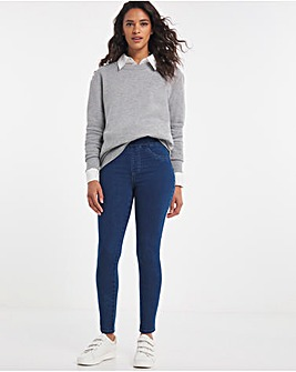 Pull On Sculpt Power Stretch Mid Blue Skinny Jeggings