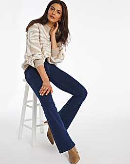Pull On Power Stretch Indigo Bootcut Jeggings