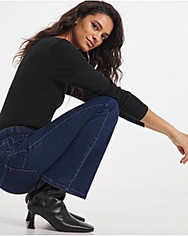 Pull On Sculpt Power Stretch Indigo Bootcut Jeggings