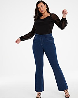 Sculpt & Define Mid Blue Bootcut Jeggings