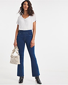 Pull On Sculpt Power Stretch Mid Blue Bootcut Jeggings