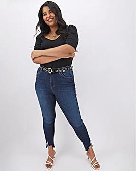 Indigo Chloe Ripped Hem Skinny Jeans